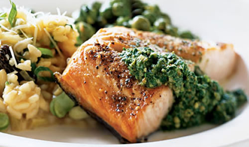 Salmon with Fresh Sorrel Sauce